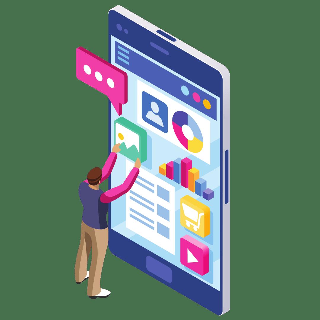 Ilustration Digital Marketing by Ingenuity & Solutions